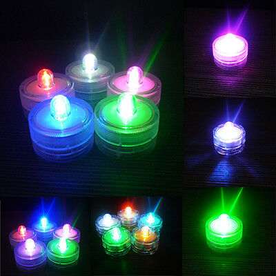 CA Waterproof Submersible LED Tea Lights Electronic Candle Battery Wedding Vase