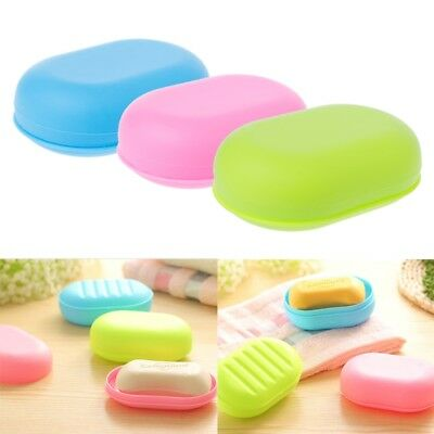Portable Travel Shower Soap Box Plate Dish Holder Case Home Bathroom Container
