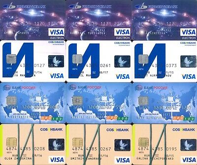 12 bank Credit cards only for collections VISA Mastercard MIR pro100 RUSSIA