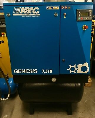 ABAC Genesis 7.510 Receiver Mounted Rotary Screw Compressor With Filters & Dryer