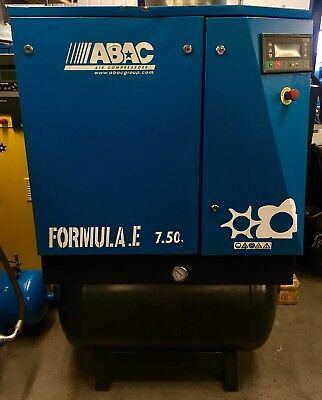 ABAC Genesis 7.508 Receiver Mounted Rotary Screw Compressor With Filters & Dryer