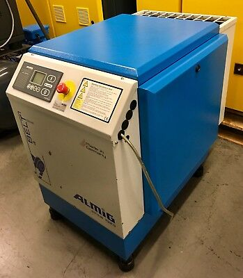 Almig Belt 4-8 Rotary Screw Compressor 4.0Kw, 23Cfm! Fully Serviced! Immaculate!