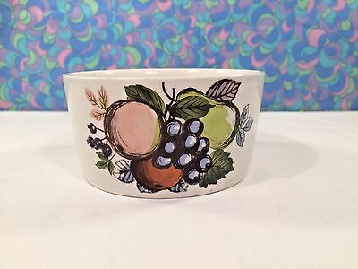 Vintage Swinnertons Harvest Fruit Sugar Bowl Ironstone Pottery Retro 60s 70s