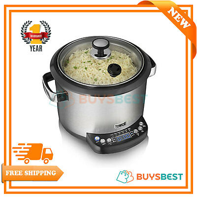 Tower Health Digital Stainless Steel 700 W 5 Ltr Multi-Cooker With Timer T16001