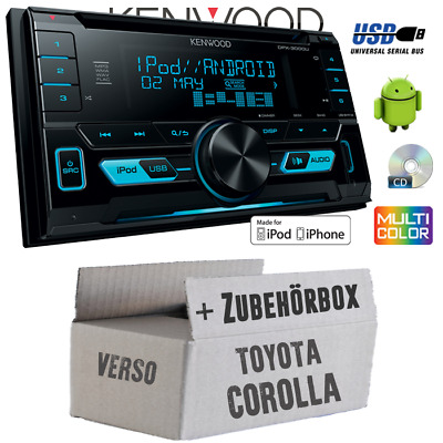 toyota corolla verso 2 auto radio blende einbau rahmen. Black Bedroom Furniture Sets. Home Design Ideas