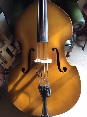 Vintage Upright Double Bass 1960s With Pickup