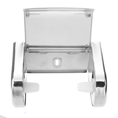 Polished Chrome Stainless Steel Bathroom Toilet Paper Tissue Box Holder New BF