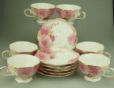 Six Duos PNC Home & Gifts Cups & Saucers Pretty Pink Floral Design KC261