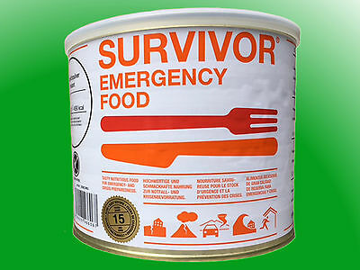 "(36,91€/kg)  SURVIVOR® Emergency Food Pasta ""Bolognese"" mit Rindfleisch"