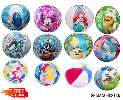 """New Inflatable Blow Up Beach Balls, 16"""" 20"""" All Designs Ideal for Pool Parties"""