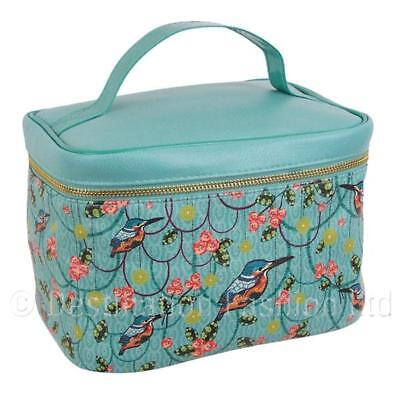 Decodelire Tropical Blue Vanity Case Beauty Bag for Toiletries Make Up Nail Sets
