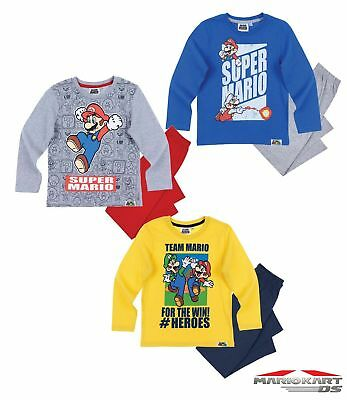 official super mario long Sleeve Pyjama 3-8 YEARS free 1st  class post (2)