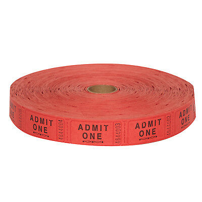 Carnival Ticket Roll Red or Orange (1 roll of 2000)