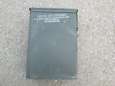 USGI Large metal Ammo Can with rubber seal M224 60mm Mortar Rounds