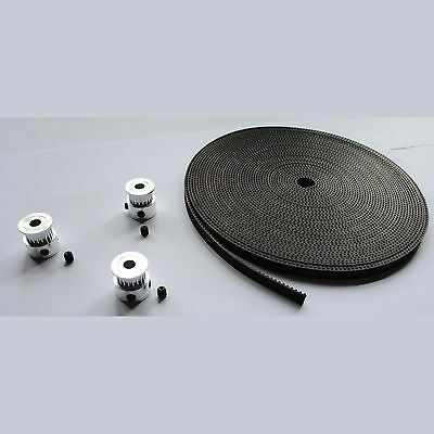 3M/5M Gt2 Timing Belt & 3 Pulleys For Reprap Prusa Mendel Rostock 3D Printers
