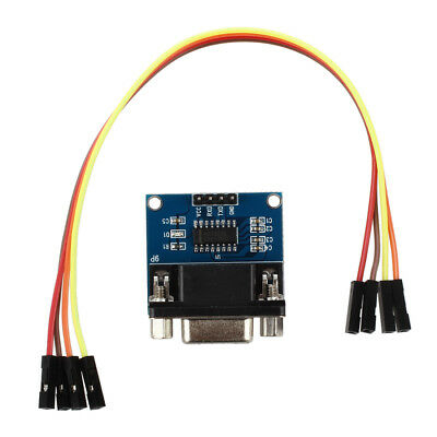 MAX3232 RS232 Serial Port To TTL Module DB9 Connector W/4 Jump Cables BF