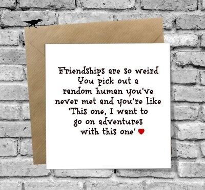 Funny Card Best Friend Humour Funny Friendship Birthday Xmas 18Th 21St 30Th 40Th