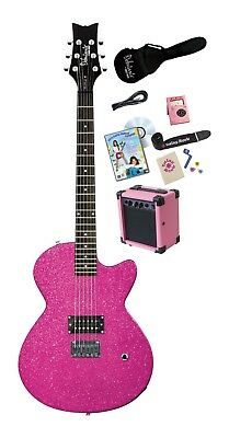 Rock Candy (Atomic Pink) Electric Guitar Pack (inc amp, accessories) - New Boxed