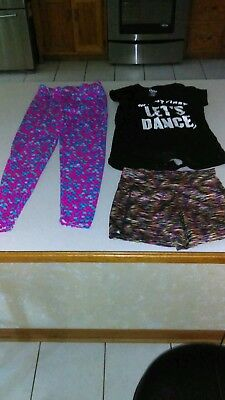 Mixed Lot Of Girls Size 14 Shirt, Pants And Shorts All From Justice