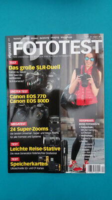 Fototest Juli/August 4/2017  ungelesen 1A absolut TOP