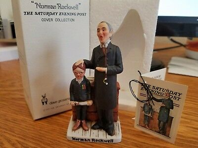 """Norman Rockwell """"Schoolmaster"""" 4 inches NR-"""