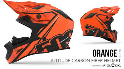2018- 509 Altitude Carbon Fiber Snowmobile Helmet Orange 3Xlarge 509-Hel-Aco-3Xl