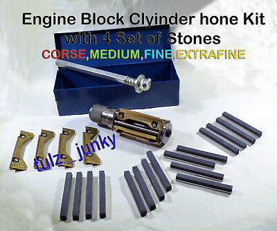 MOTORCYCLE , ATV SMALL BLOCK CYLINDER HONE KIT 34 MM to 60 MM + 4 SETS STONES