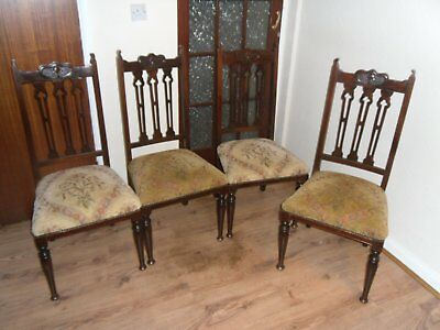 Antique Edwardian chairs project