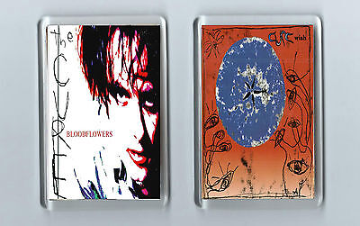 Magnets x 2 : THE CURE Bloodflowers Wish  Indie Alt Goth