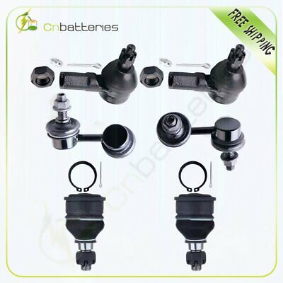 Suspension 6 Sway Bar Tie Rod End Ball Joint Kit For 2002-2004 Honda Civic 1.7L