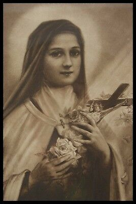 † 1918 ST THERESE of THE CHILD JESUS ORIGINAL ETCHING CARMEL of LISIEUX FRAME †