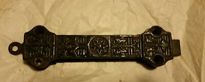 Victorian Era  Cast Iron Spring Loaded Gate Slide Latch Dead Bolt Ornate