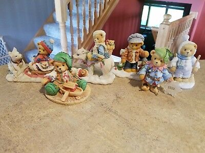 Cherished teddies Christmas/winter lot of 6