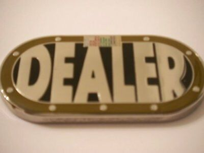 Heavy Poker Table Shape Dealer Button Card Guard NEW