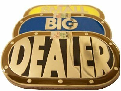 Premium Dealer Button Small Blind and Big Blind 3 PC Combo Heavy Metal NEW
