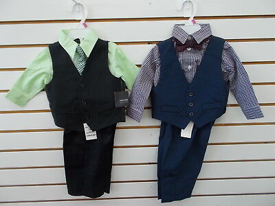 Infant/Toddler Boys Holiday Editions 4pc Green or Checkered Suits Sz 12m - 5T