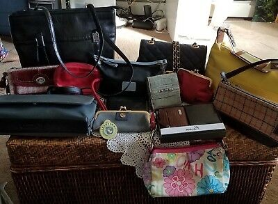 Coach, Brighton, Spartina etc Bags & Wallets 14 Piece Lot