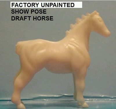 Breyer Mini Whinnie Factory Unpainted SHOW POSE DRAFT HORSE of Paint Kit 4187