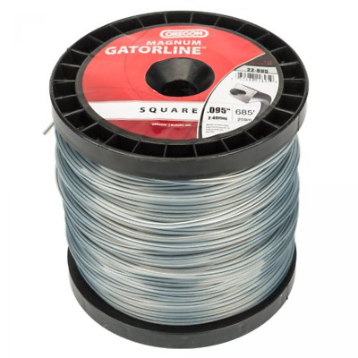 Spool Line Dual Polymer Trimmer Line Reinforced Aramid Fibers 0.095 Inch Gauge