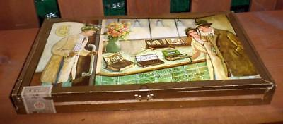 Brazil Trulerie Heidelberg West Germany Cigar Box with Tax Stamp Great Graphics