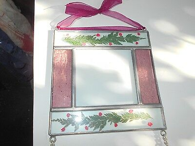Stained Glass Window Panel Suncatcher Double Picture Frame