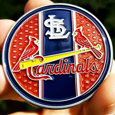 PREMIUM MLB St. Louis Cardinals Throwback Poker Card Guard Coin Golf Marker NEW