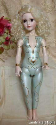 All Bisque doll Eve in Bodysuit featured in Dollmaking Magazine By Emily Hart