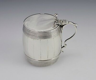 Georgian Silver Barrel Mustard Pot Joseph Wyatt London 1792