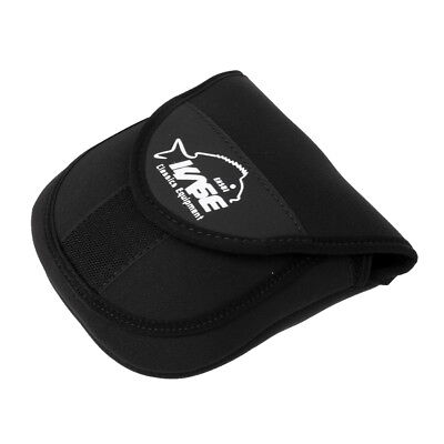 Fishing Storage Bag Double Layer Elastic Reel Pouch Cover Protective Case