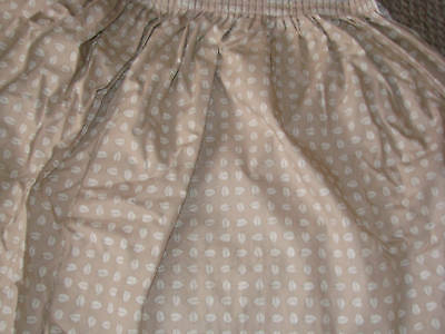 Longaberger BOTANICAL Fields STONE Leaf Fabric Banquet Table Skirt Neutral Color