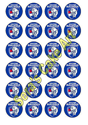 Western Bulldogs Cupcake Topper AFL Footy football club Birthday bachelor party