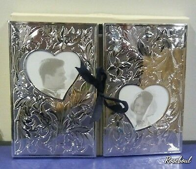 LENOX Silverplated Wedding Promise Collection Double Album Holds 112 (4x6) Photo