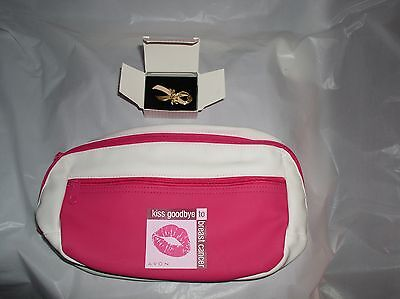 Avon Kiss Goodbye to Breast Cancer Pink White Fanny Waist pack Pin Included