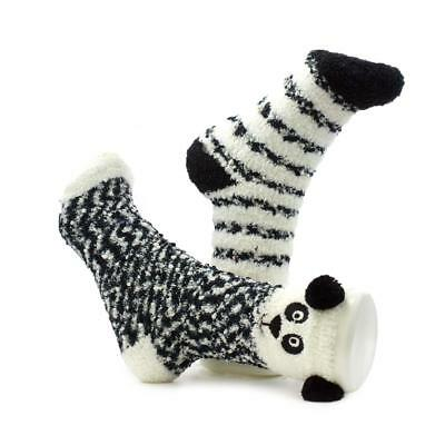 Totes One Size Panda Twin Pack Socks - Sizes 1